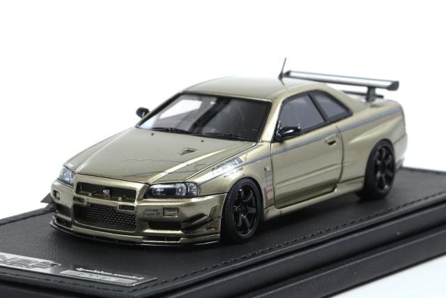 ignition 1/43 Nissan Skyline GT-R Mine's (R34) Millenium Jade