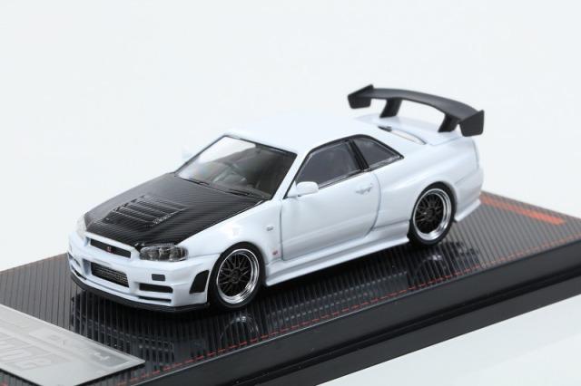 イグニッションモデル 1/64 Nismo R34 GT-R Z-tune White