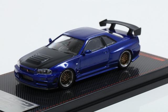イグニッションモデル 1/64 Nismo R34 GT-R Z-tune Blur Metallic