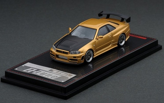Ignition model 1/64 Nismo R34 GT-R Z-tune Gold