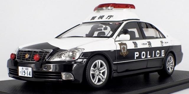 Ignition model 1/18 Toyota Crown (GRS180) 警視庁 自動車警ら隊110号