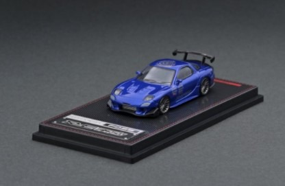 Ignition model 1/64 Mazda RX-7 (FD3S) RE Amemiya Blue Metallic