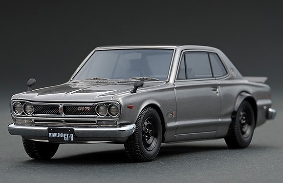 イグニッションモデル 1/43 Nissan Skyline 2000 GT-R (KPGC10) Silver With Engine