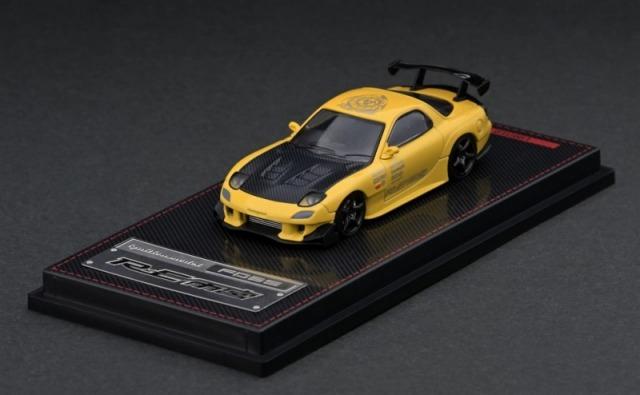 Ignition model 1/64 Mazda RX-7 (FD3S) RE Amemiya Yellow