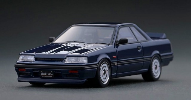 Ignition model 1/43 Nissan Skyline GTS-R (R31) Blue Black With Mr. Hoshino
