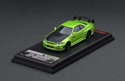 Ignition 1/64 Nismo R34 GT-R Z-tune Green Metallic