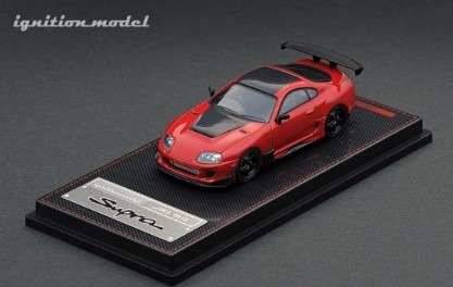 Ignition 1/64 Toyota Supra (JZA80) RZ Red With Mr.Orido