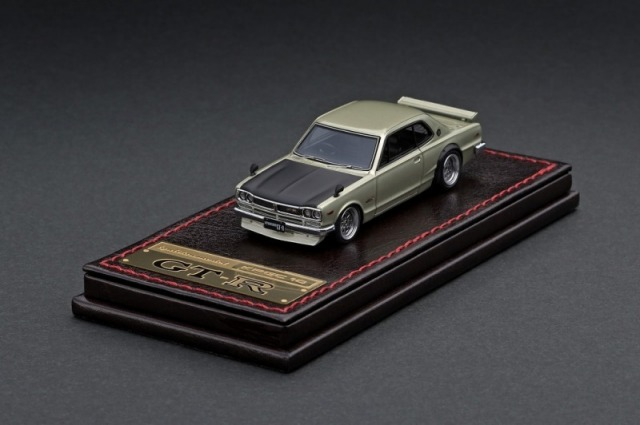 Ignition model 1/64 Nissan Skyline 2000 GT-R (KPGC10) Gold