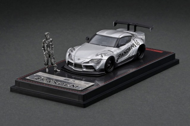Ignition model 1/64 PANDEM Supra (A90) シルバー With Mr.Miura ※メタルフィギュア付属