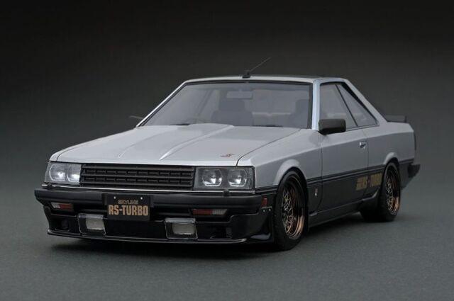 <予約 2022/5月発売予定> Ignition 1/18 Nissan Skyline 2000 RS-Turbo (R30) Silver/Black