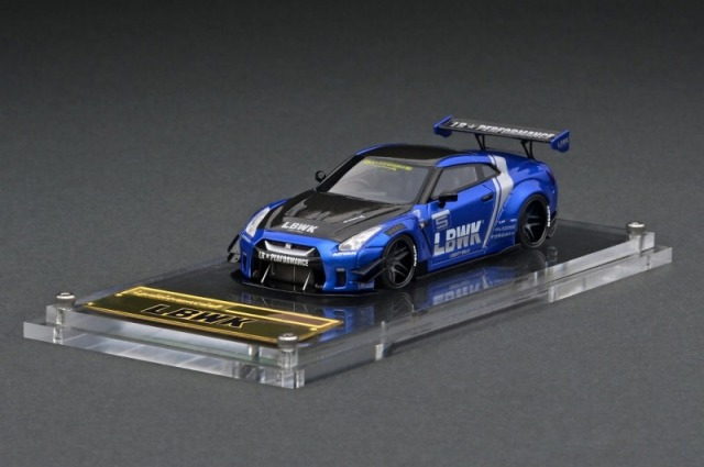 <予約 2021/8月発売予定> ignition model 1/64 LB-WORKS Nissan GT-R R35 type 2 Blue