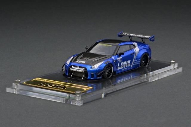 <予約 2021/8月発売予定> ignition model 1/64 LB-WORKS Nissan GT-R R35 type 2 Blue