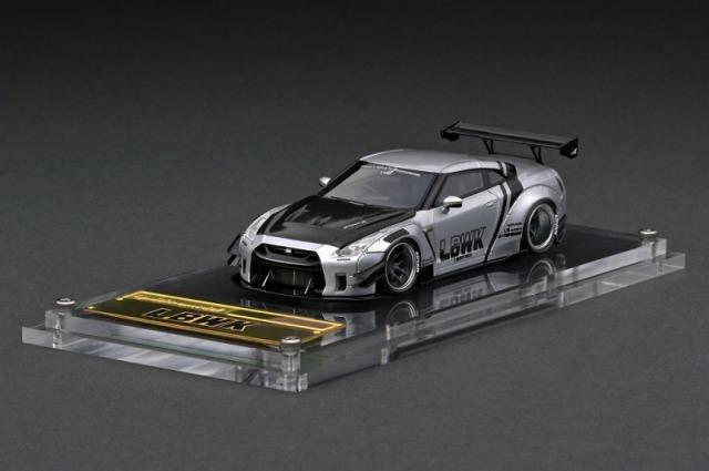 <予約 2021/8月発売予定> ignition model 1/64 LB-WORKS Nissan GT-R R35 type 2 Silver