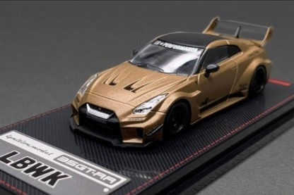 <予約 2021/7月発売予定> ignition model 1/64 LB-Silhouette WORKS GT Nissan 35GT-RR Matte Gold