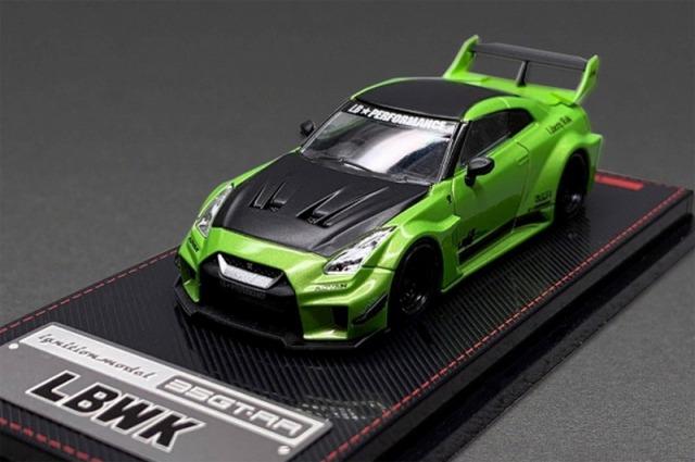 <予約 2021/7月発売予定> ignition model 1/64 LB-Silhouette WORKS GT Nissan 35GT-RR Green Metallic
