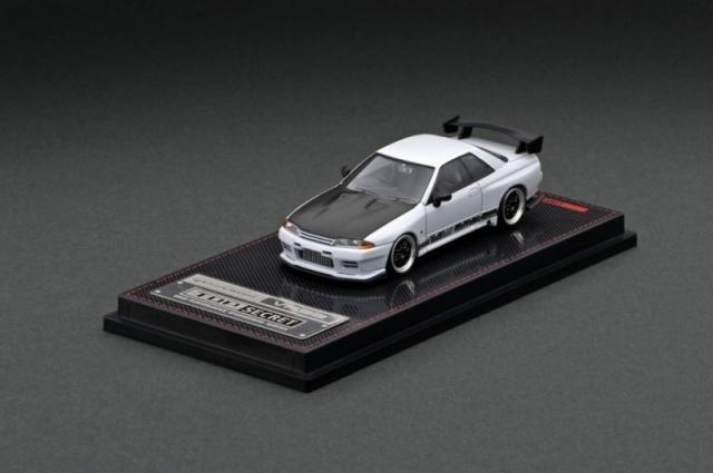 Ignition 1/64 TOP SECRET GT-R (VR32) Matte Pearl White