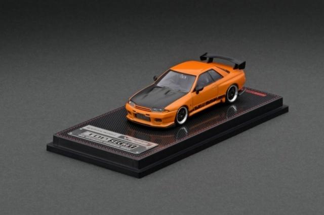 Ignition 1/64 TOP SECRET GT-R (VR32) Yellow Orange Metallic