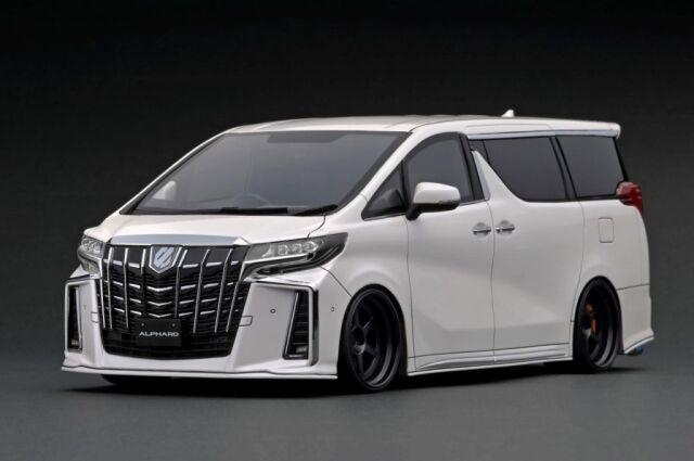<予約 2022/4月発売予定> Ignition 1/18 Toyota Alphard (H30W) Executive Lounge S Pearl White