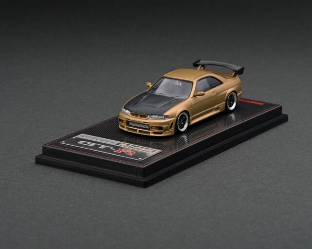 <予約 2022/3月発売予定> Ignition 1/64 Nismo R33 GT-R Matte Gold
