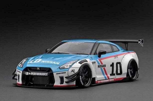 <予約 2022/4月発売予定> Ignition 1/43 LB-WORKS Nissan GT-R R35 type 2 White/Blue