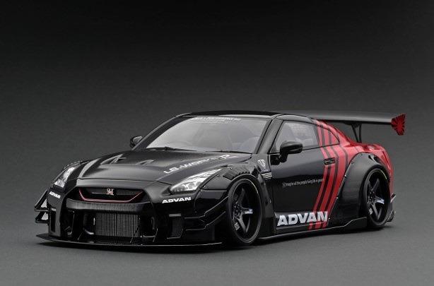 <予約 2022/4月発売予定> Ignition 1/43 LB-WORKS Nissan GT-R R35 type 2  Black/Red
