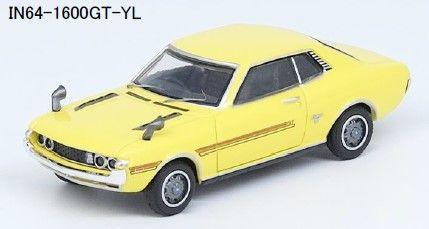 <予約 2021/11月発売予定> INNO 1/64 トヨタ セリカ 1600GT (TA22) イエロー