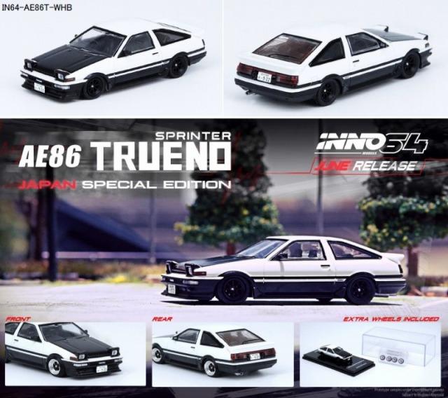 INNO 1/64 スプリンター トレノ AE86 ホワイト/ブラック
