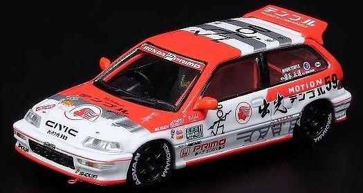 INNO 1/64 Honda シビック EF9 出光 MOTION TEMPLE RACING
