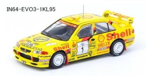 INNO 1/64 三菱 ランサー エボリューション III 1995 ラリーフィンランド (1000湖ラリー) #1 T.マキネン/ S.Harjanne