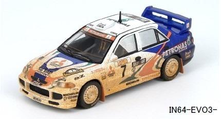 INNO 1/64 三菱 ランサー エボリューション III #7 Australia Rally 1996 ウェザリング塗装