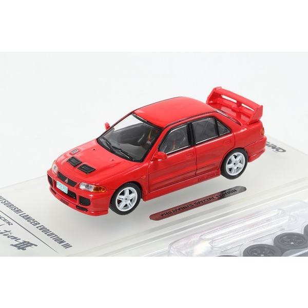 【INNO】 1/64 三菱 ランサー GSR エボリューションIII 1995 Red フィリピン限定
