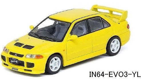 INNO 1/64 三菱 ランサー エボリューションIII 1995 イエロー