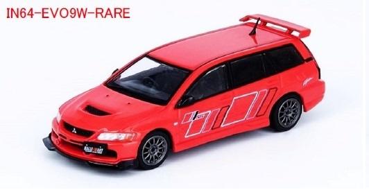 INNO 1/64 三菱 ランサー エボリューション IX ワゴン 2005 ラリーアート レッド