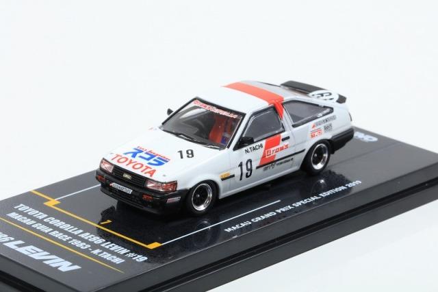 INNO64 1/64 トヨタ カローラ レビン AE86 TOM'S #19 マカオGP 1983
