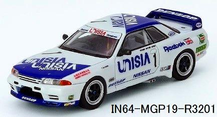 INNO 1/64 NISSAN SKYLINE GT-R R32 #1 UNISIA JECS-MACAU GUIA RACE 1991 M.HASEMI