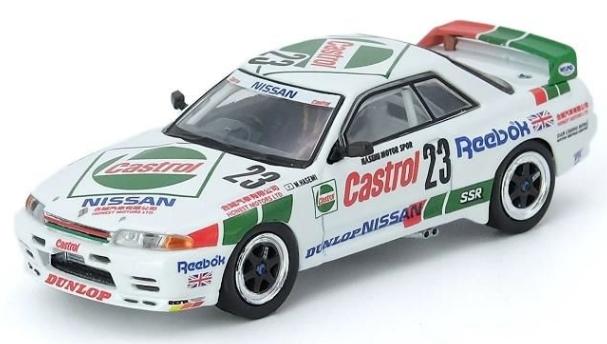 INNO 1/64 NISSAN SKYLINE GT-R R32 #23 CASTROL-MACAU GUIA RACE 1990 WINNER M.HASEMI