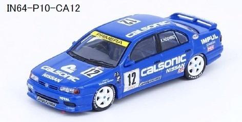 "INNO 1/64 Nissan プリメーラ (P10) #12 ""CALSONIC"" JTCC 1994"