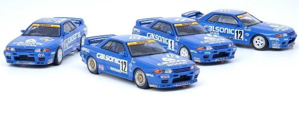 INNO 1/64 Nissan スカイライン GT-R R32 カルソニック 4台セットJTC 1990' 91' 92' 93'