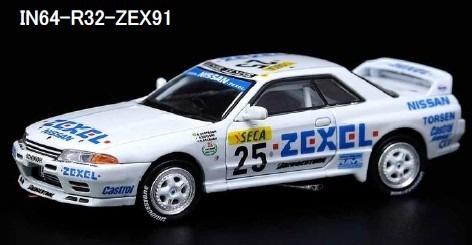INNO 1/64 Nissan スカイライン GT-R R32 #25 ZEXEL 24hr Spa 1991 優勝車