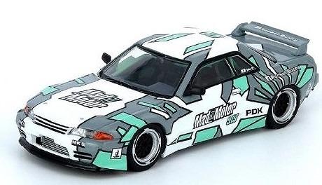 """INNO 1/64 Nissan Slyline GT-R (R32) Pandem """"Mad Motor"""" ECHO GAO"""