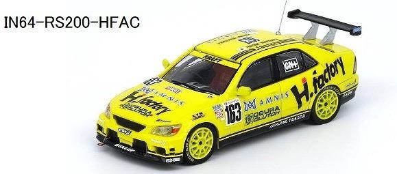 """<予約> INNO 1/64 アルテッツァ スーパー耐久 2002 """"H factory"""" #163"""