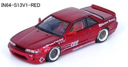 INNO 1/64 Nissan シルビア S13 PANEM ROCKET BUNNY V1 レッドメタリック