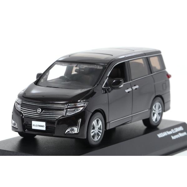 【Jコレクション】 1/43 Nissan New ELGRAND (Aurora Mauve)