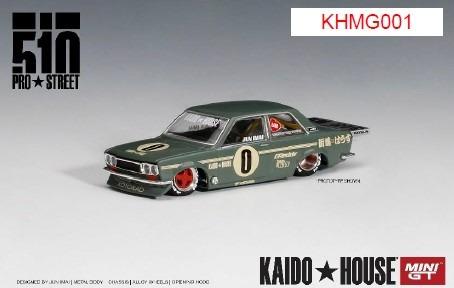 MINI GT 1/64 ダットサン 510 プロストリート OG グリーン KAIDO HOUSE (左ハンドル)