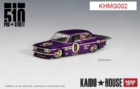 MINI GT 1/64 ダットサン 510 プロストリート OG パープル KAIDO HOUSE (左ハンドル)