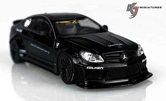 KJ Miniatures 1/64 LBWK Mercedes-Benz C63 Coupe Matte Black