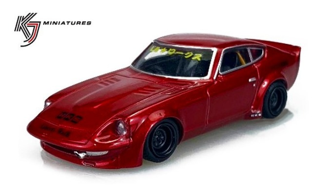 KJ Miniatures 1/64 LBWK FairLady S30 Red
