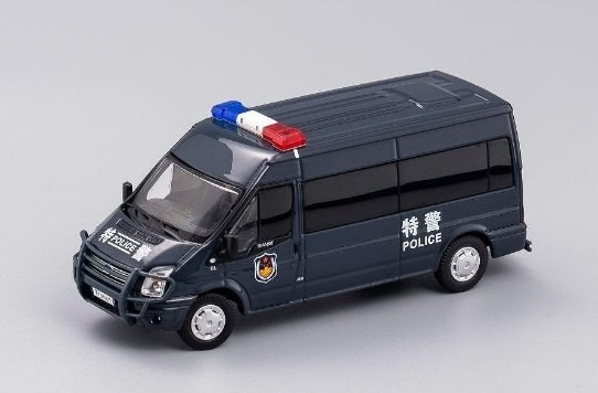 GCD 1/64 フォードトランジット (VM) 140 T330 VAN チャイナSWAT(特警)