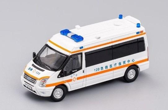 GCD 1/64 フォードトランジット (VM) 140 T330 VAN チャイナ 救急車 (AMBULANCE)