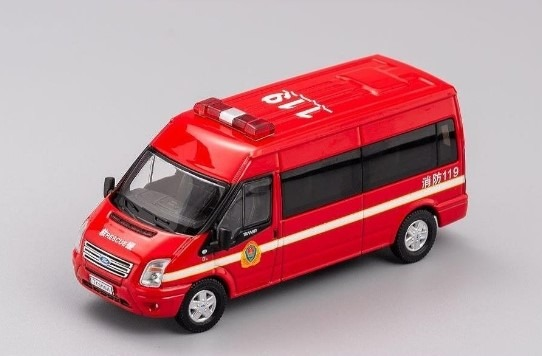 GCD 1/64 フォードトランジット (VM) 140 T330 VAN チャイナ 消防自動車 (消防)